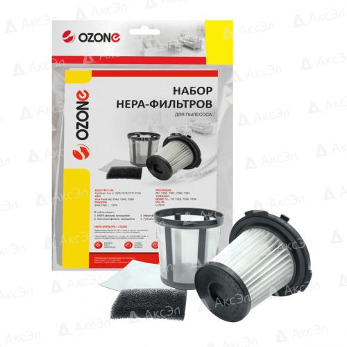 Набор фильтров для пылесоса ELECTROLUX, AEG, ZANUSSI, PROGRESS, TORNADO, VOLTA, 3 шт., картридж фильтр-1 шт., сетчатый фильтр, микрофильтр-1 шт., моторный фильтр-1 шт., бренд: OZONE, арт. H-67