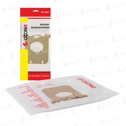 XS-02 Мешки-пылесборники Ozone синтетические для пылесоса, 2 шт