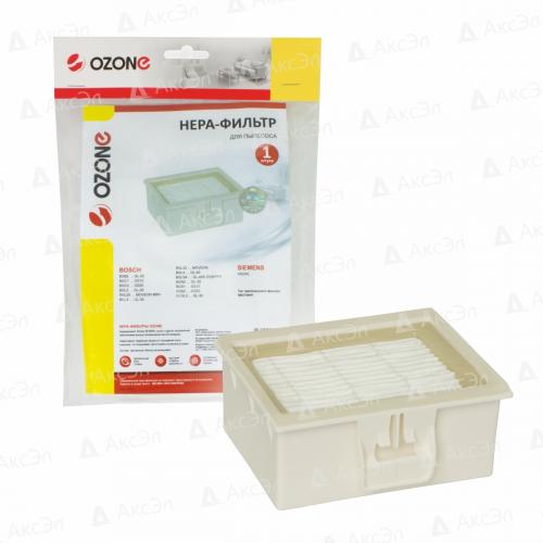 HEPA фильтр для пылесоса BOSCH, 1 шт., бренд: OZONE, арт. H-55, тип оригинального фильтра: BBZ156HF
