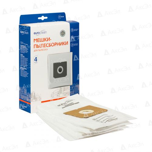 E-01/4 Мешки-пылесборники Euroclean синтетические для пылесоса, 4 шт
