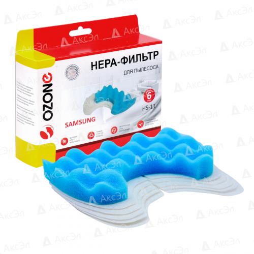 Набор микрофильтров для пылесоса SAMSUNG, губчатый фильтр-1 шт., микрофильтр-5 шт., многоразовый моющийся, бренд: OZONE, арт. HS-11, тип оригинального фильтра: DJ97-00846A