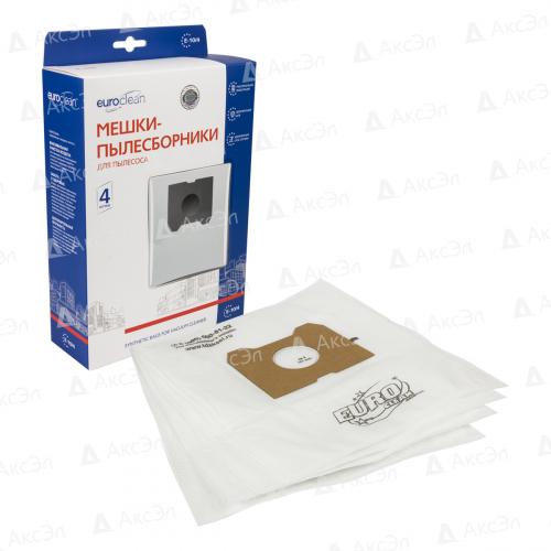E-10/4 Мешки-пылесборники Euroclean синтетические для пылесоса, 4 шт