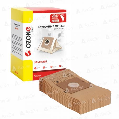 XXL-P04 Мешки-пылесборники Ozone бумажные для пылесоса, 12 шт + 2 микрофильтра