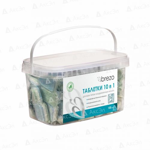 97497 Таблетки ALL IN 1 Brezo бесфосфатные для посудомоечной машины, 100 шт.