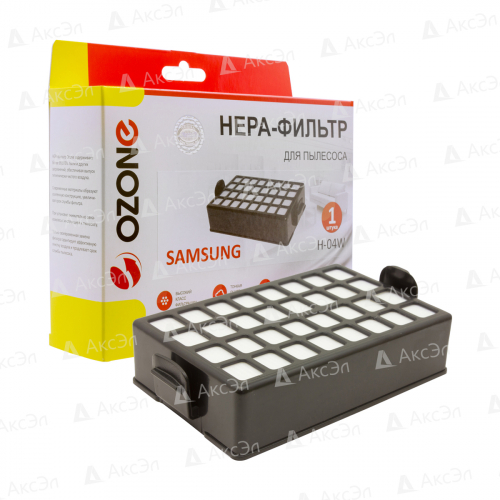 НЕРА фильтр для пылесоса SAMSUNG, 1 шт., многоразовый моющийся, бренд: OZONE, арт. H-04W, тип оригинального фильтра: DJ97-00339