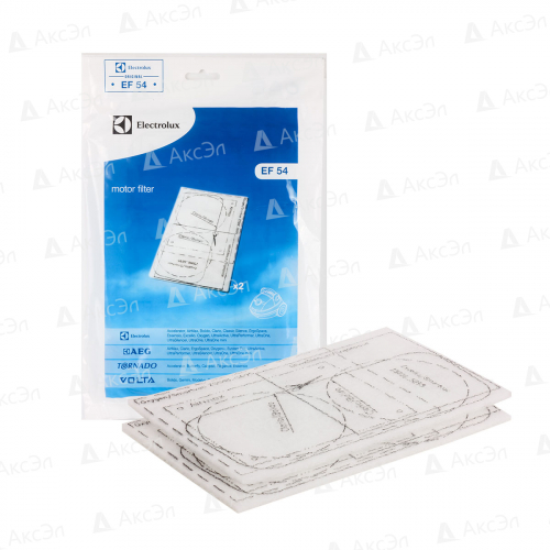 Комплект универсальных моторных фильтров для пылесоса ELECTROLUX, AEG, TORNADO, VOLTA, 2 шт., 225X145 мм, многоразовые моющиеся, бренд: ELECTROLUX, арт. EF54.