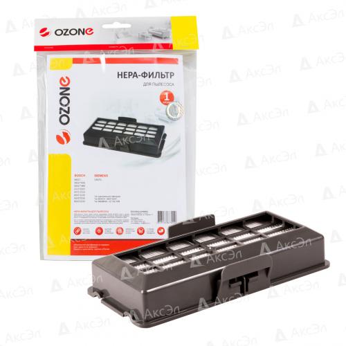НЕРА фильтр для пылесоса BOSCH, SIEMENS, 1 шт., бренд: OZONE, арт. H-12, тип оригинального фильтра: BBZ152HF, VZ152HFB