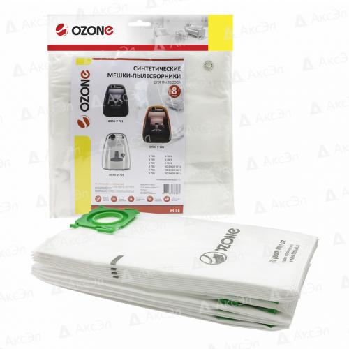 M-56 Мешки-пылесборники Ozone синтетические для пылесоса, 8 шт