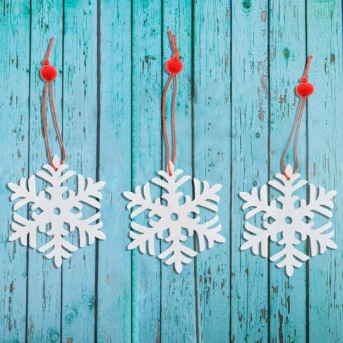 Подвеска новогодняя «Снежинка», (набор 3 шт.)