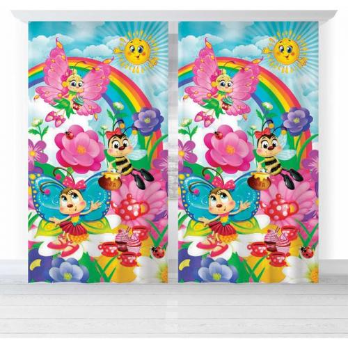 Комплект штор Этель «Бабочки», 150 × 270 см, 2 шт., хлопок 198 г/м²