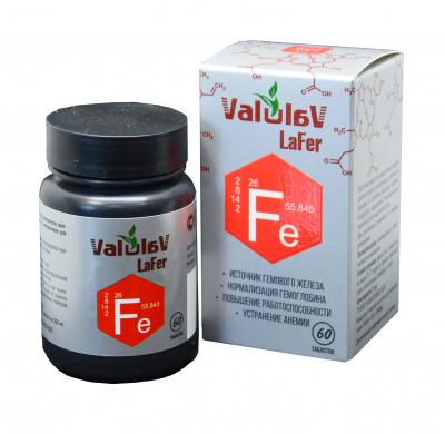 ValulaV  LaFer. – источник гемового железа. – нормализация гемоглобина,– устранение анемии