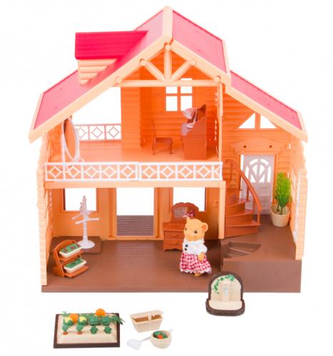 Игровой набор Дом Хижина у озера (50 предметов) Mimi Stories