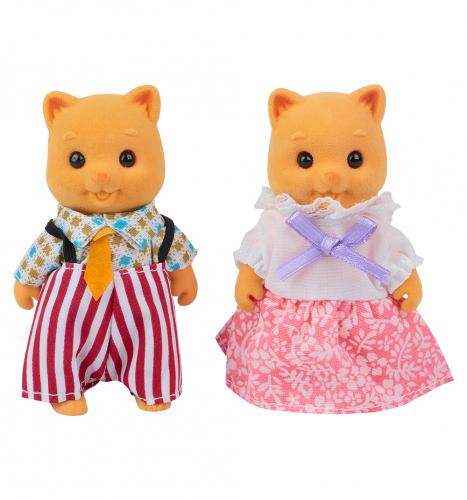 Набор фигурок Mimi Stories Семья котов (2 фигурки) 8 см