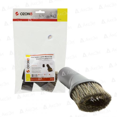 UN-10 Универсальная насадка для пылесоса Ozone для мебели с длинным натуральным ворсом, под трубку 32 и 35 мм