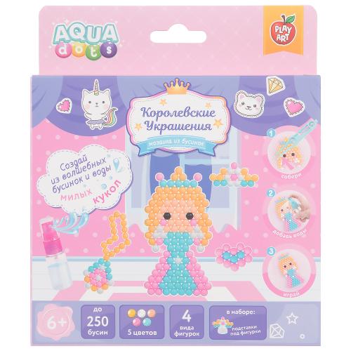 Набор для творчества Принцессы Королевские украшения PLAY ART AQUA dots