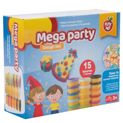 Набор для лепки Play Art Мега вечеринка 15 цв.