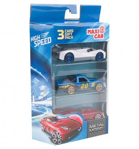 Набор машинок Maxi Car High Speed (3 шт.), в ассортименте