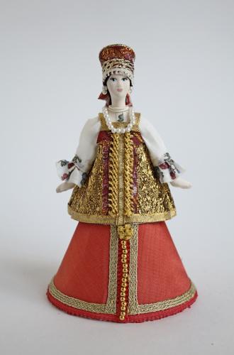 Кукла сувенирная фарфоровая. Русская девушка. Шкатулка.