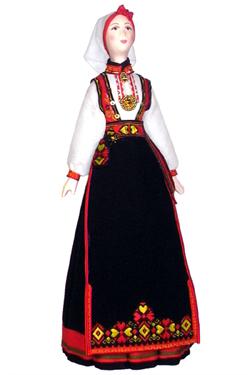 Норвежский женский костюм.