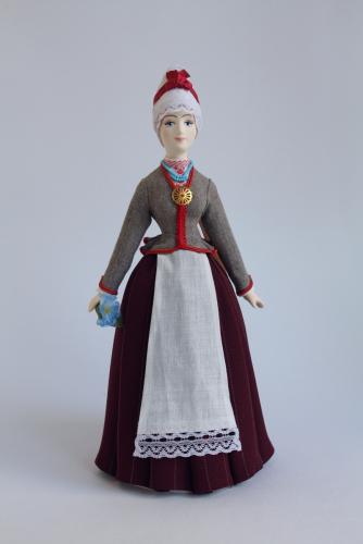 Женский эстонский костюм 19в. Область: Pernumee