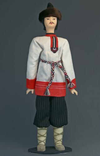 Кукла сувенирная фарфоровая. Мордовин - эрзя