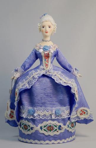 Кукла сувенирная фарфоровая. Светский костюм. Сер.18 в. Западная Европа