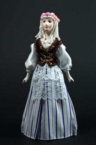 Кукла сувенирная фарфоровая. Белоснежка. Сказочный персонаж.