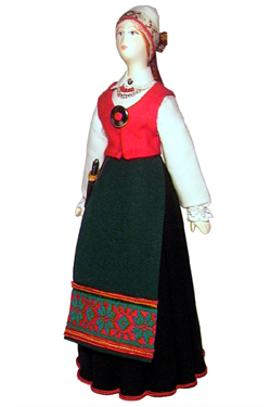 Эстонский женский костюм сер. 19в. Область: Tartum