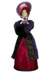 Кукла сувенирная фарфоровая. Петербургская дама. Сер. 19 в. Петербург, Европейская мода.