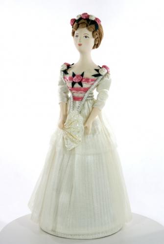 Девушка в вечернем платье. Сер.19 в. Петербург. (в