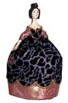 Кукла сувенирная фарфоровая. Дама в бальном платье с веером. 1840-е г. Европа