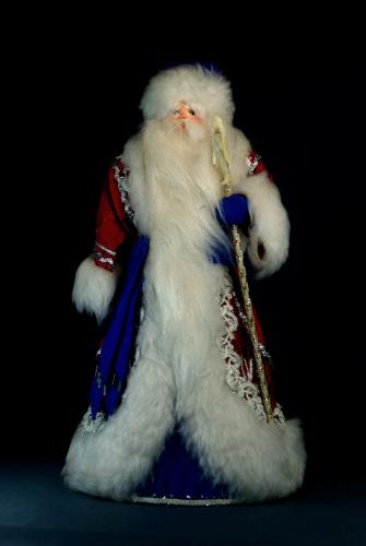 Кукла сувенирная фарфоровая. Дед Мороз. Сказочный персонаж.