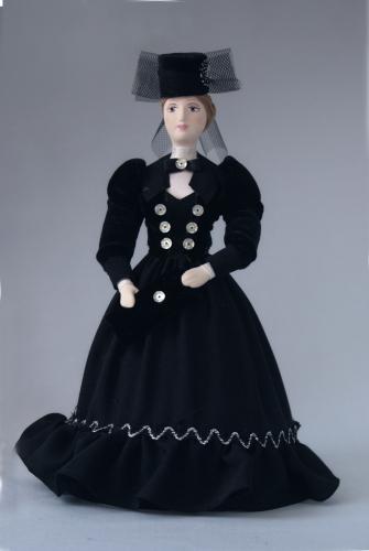 Кукла сувенирная фарфоровая. Анна Каренина.
