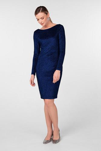 Платье #180825Темно-синий