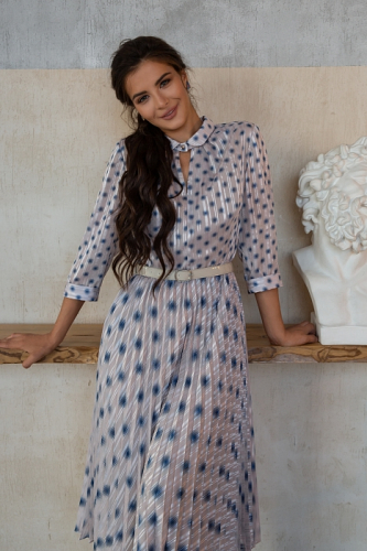 Платье плиссе Агнетта.1 геометрия 2900р