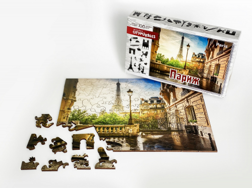 Деревянный пазл Citypuzzles
