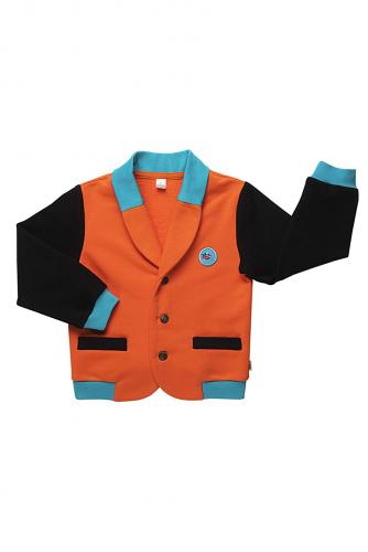 Пиджак #255076Ред оранж/ антрацит