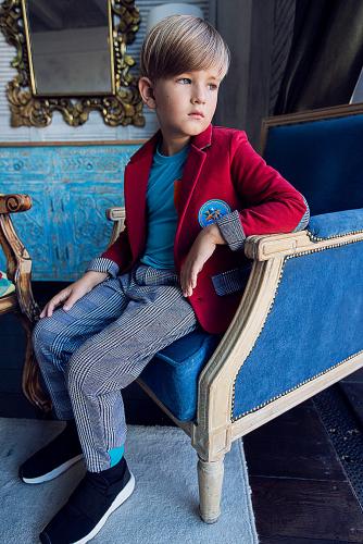 Пиджак #255092Рэд дахлиа/ гусиная лапка