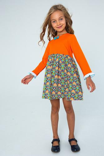 Платье #255246Жар птица/ рэд оранж