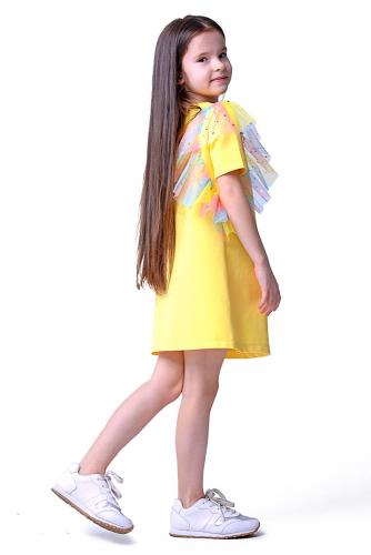 Платье #255574Лимонный Радужный