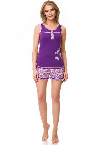Комплект (Шорты + Майка) #79855Фиолетовый