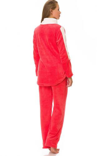Комплект (кофта+брюки) #67934Коралл