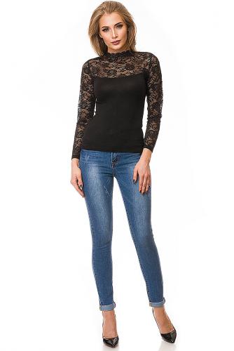 Блузка #79772Темно-коричневый