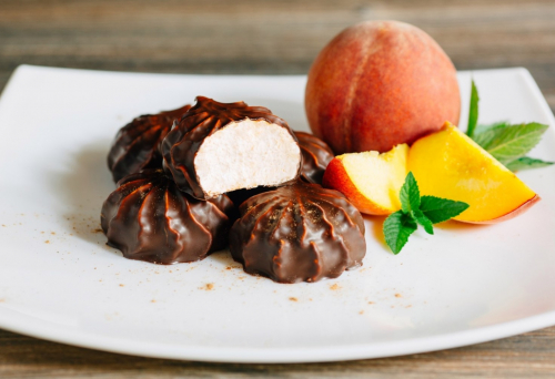 Персик в шоколаде (500 гр.)