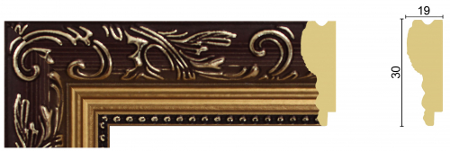 РАМКА без стекла и картона_BV1930-3