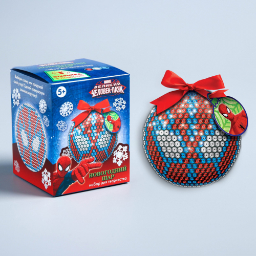 Новогодний ёлочный шар для декорирования, Человек-паук