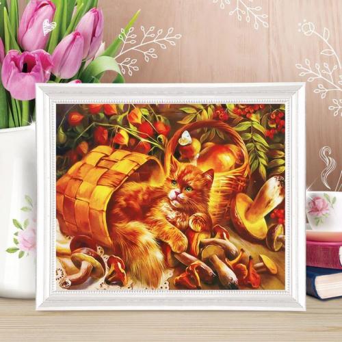 Роспись по холсту «Рыжий проказник» по номерам с красками по 3 мл+ кисти+крепеж, 30×40 см
