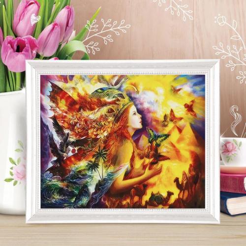 Роспись по холсту «Время стихий» по номерам с красками по 3 мл+ кисти+крепеж, 30×40 см