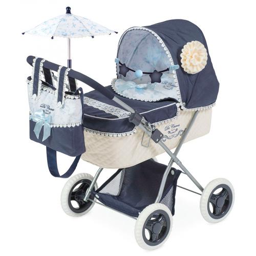 85020 Коляска для куклы с сумкой и зонтиком серии Романтик, 60см