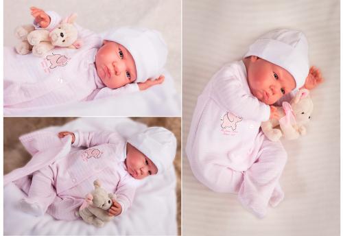 8151 Кукла Реборн младенец Роза, 52см